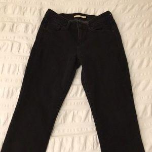 Levi's Womens Black Mid Rise Skinny Jeans sz. 4